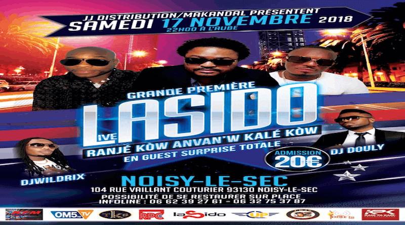 Événement - Grande première du groupe LASIDO en live